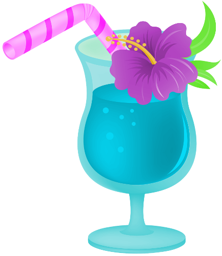 433x500 Tropical Drink Png By Clipartcotttage Praia