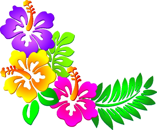 600x499 Tropical Flower Border Clipart Hawaiian Flower Clip Art Tropical