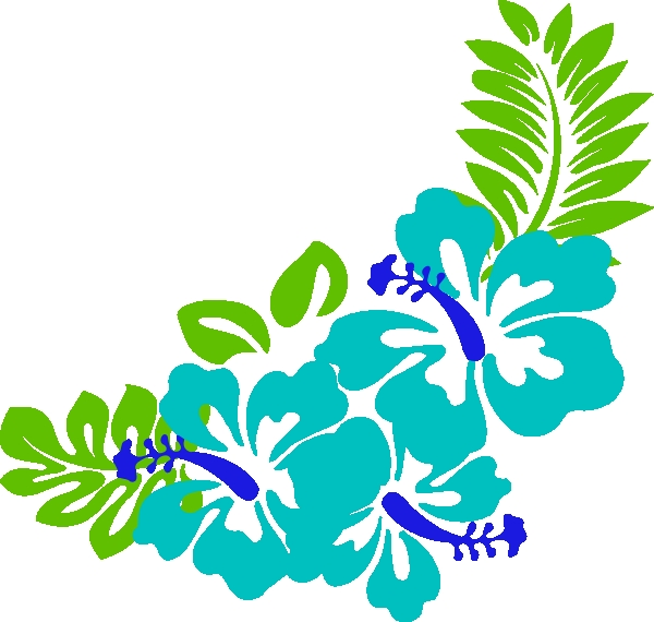 600x570 Tropical Flowers Clipart Free Blue Green Tropical Flowers Clip Art