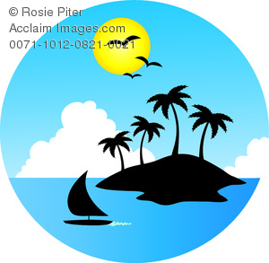 300x293 Cliprt Image Of Tropical Island Surrounded By Water