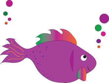 350x267 Free Clip Art Picture Of A Magenta Rainbow Tropical Fish