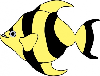 425x322 Free Download Of Striped Tropical Fish Clip Art Vector Graphic