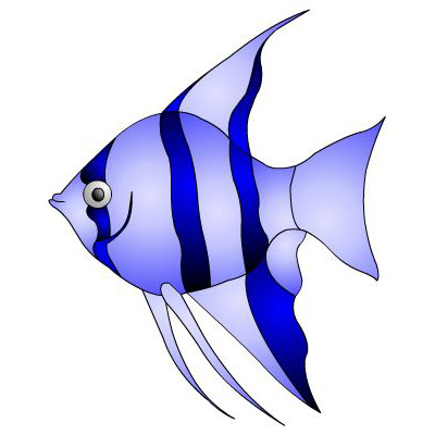 400x400 Image Of Tropical Fish Clipart