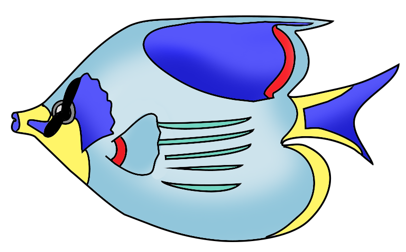 817x507 Image Of Tropical Fish Clipart