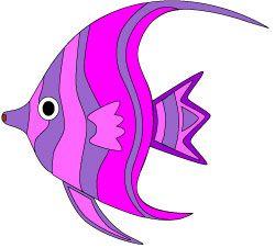 250x226 Pretty Colorful Tropical Fish Clip Art In Shades Of Purple
