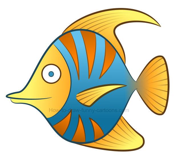 624x556 Tropical Fish Clipart To Draw A Tropical Fish Clipart Clip Art