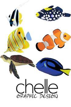 233x350 Clip Art 6 High Resolution Tropical Fish Elementary Creations