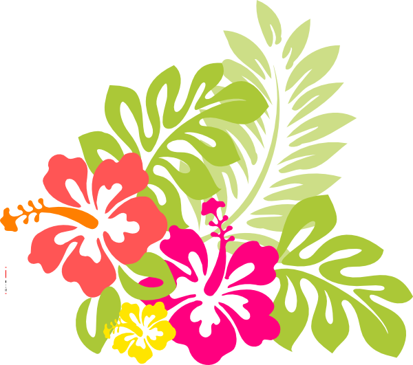 600x531 Flowers From Hawaii, The Exotic Hibiscus Flower With Word Art