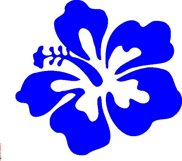 600x531 Blue Tropical Flower Clip Art