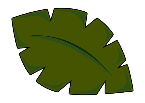 600x425 Highest Palm Tree Leaf Template Clip Art Vector Online