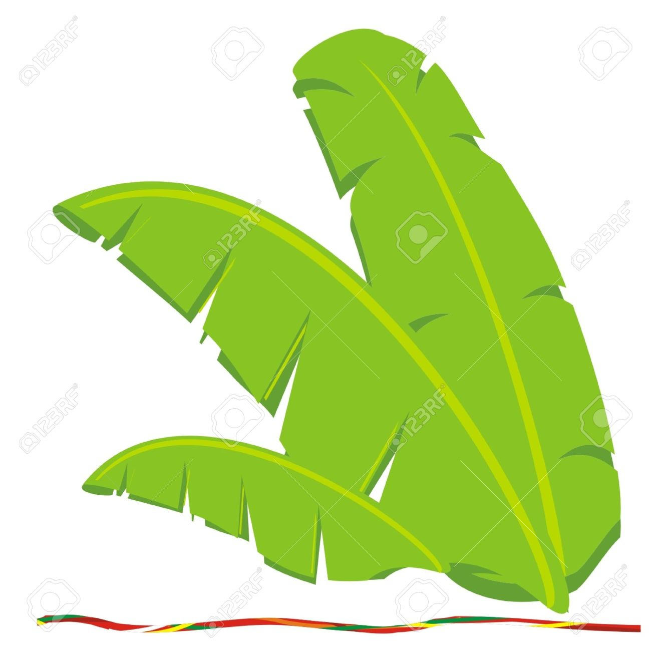 1300x1300 How To Draw A Banana Leaf Watercolor Tropical Palm Leaves Clip Art