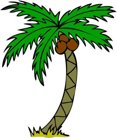 382x451 Palm Tree Clipart Border