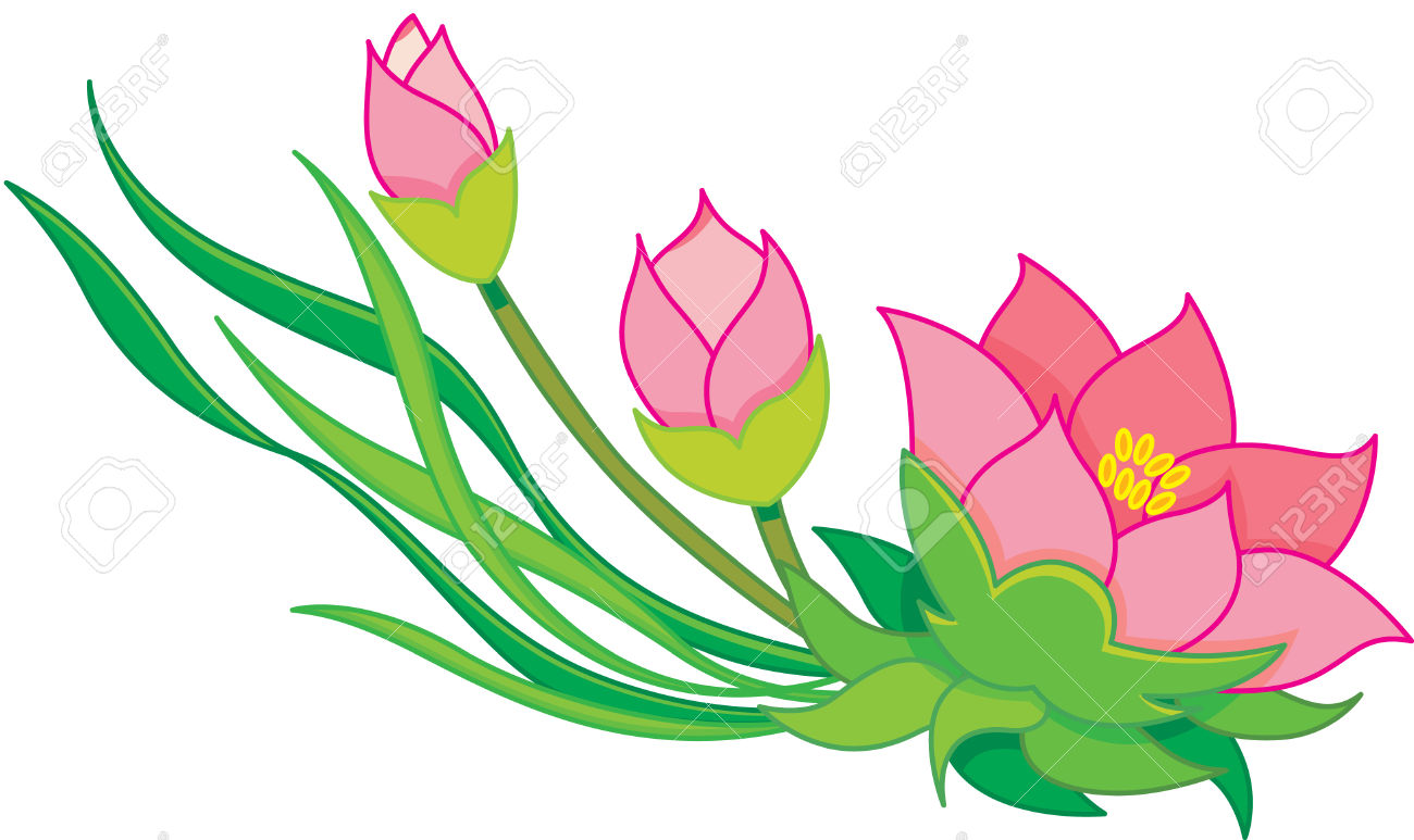 1300x773 Forest Flowers Clipart