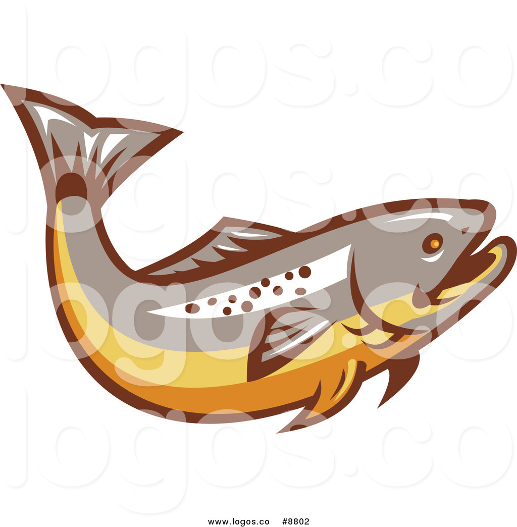 1024x1044 Royalty Free Clip Art Vector Logo Of A Trout Fish By Patrimonio