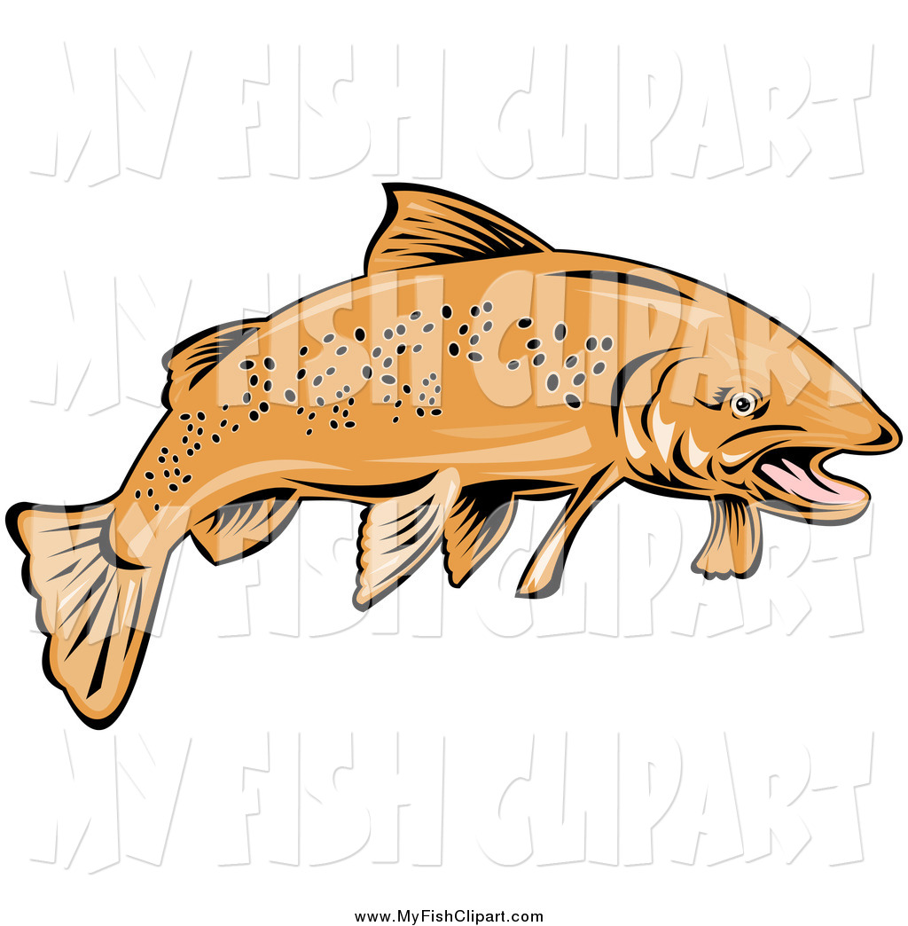 1024x1044 Clip Art Of A Speckled Trout Fish By Patrimonio