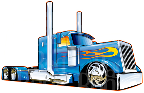 Truck And Trailer Clipart
