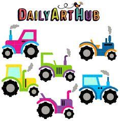 236x238 Free Colorful Trailer Trucks Clip Art Set Daily Free Art Sets