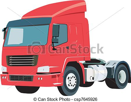 450x351 Red Truck In Vector Clip Art Vector