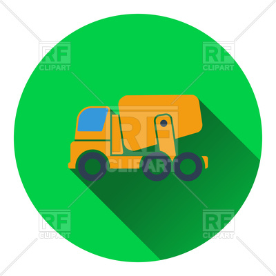400x400 Concrete Mixer Truck Icon Royalty Free Vector Clip Art Image
