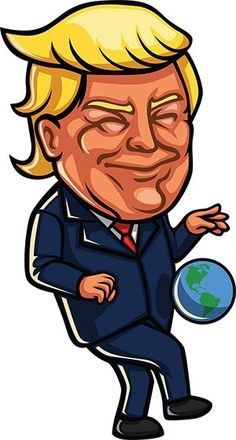 236x440 18 Free Donald Trump Clipart Cartoons Donald Trump, Cartoon
