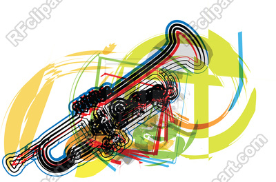 400x264 Abstract Trumpet Illustration Royalty Free Vector Clip Art Image