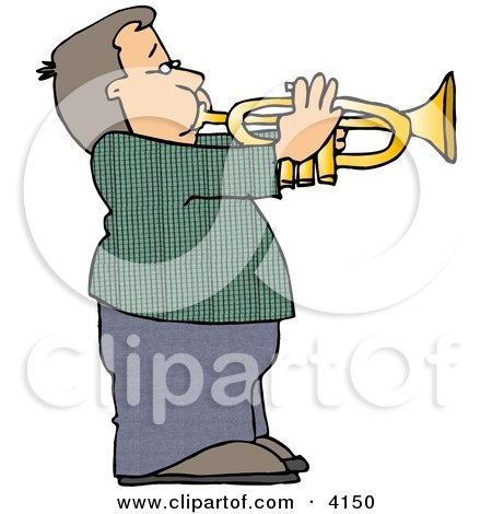 450x470 Royalty Free (Rf) Trumpet Clipart, Illustrations, Vector Graphics