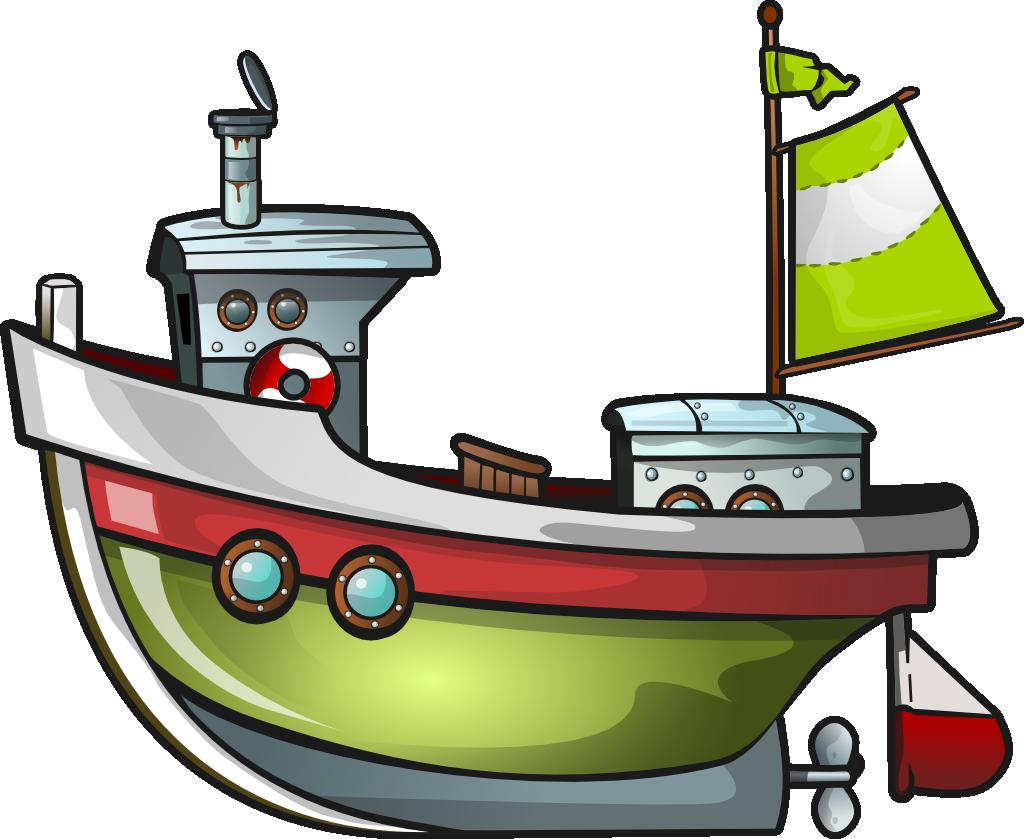 1024x839 Free Green Boat Clip Art Winter Holiday Decor!
