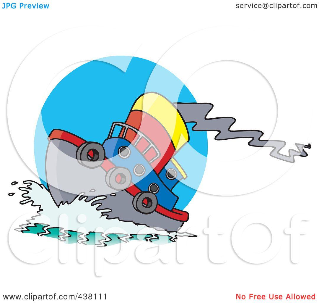 1080x1024 Royalty Free (Rf) Clip Art Illustration Of A Cartoon Tug Boat