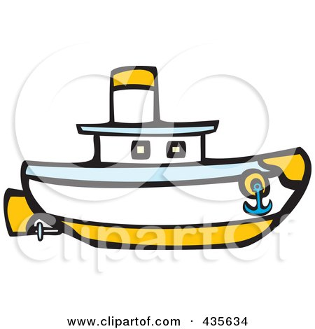 450x470 Royalty Free (Rf) Tugboat Clipart, Illustrations, Vector Graphics