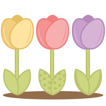 432x432 Tulips Svg Cutting Files For Scrapboking Tulip Svg Cut Files Free