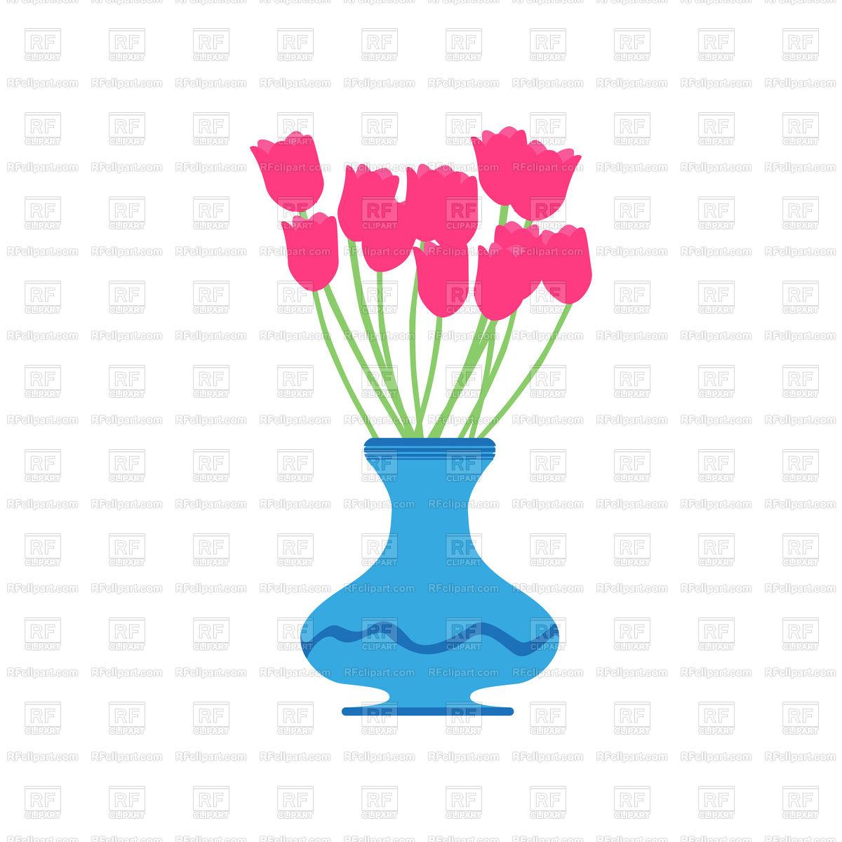1200x1200 Vase Tulip Illustration Isolated Royalty Free Vector Clip Art