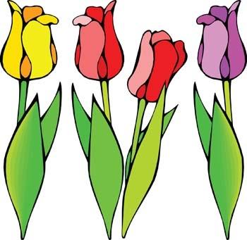 350x341 Tulip Flower Clipart