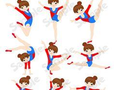 236x187 Instant Download, Gymnastics Clipart Clip Art, Girls Little