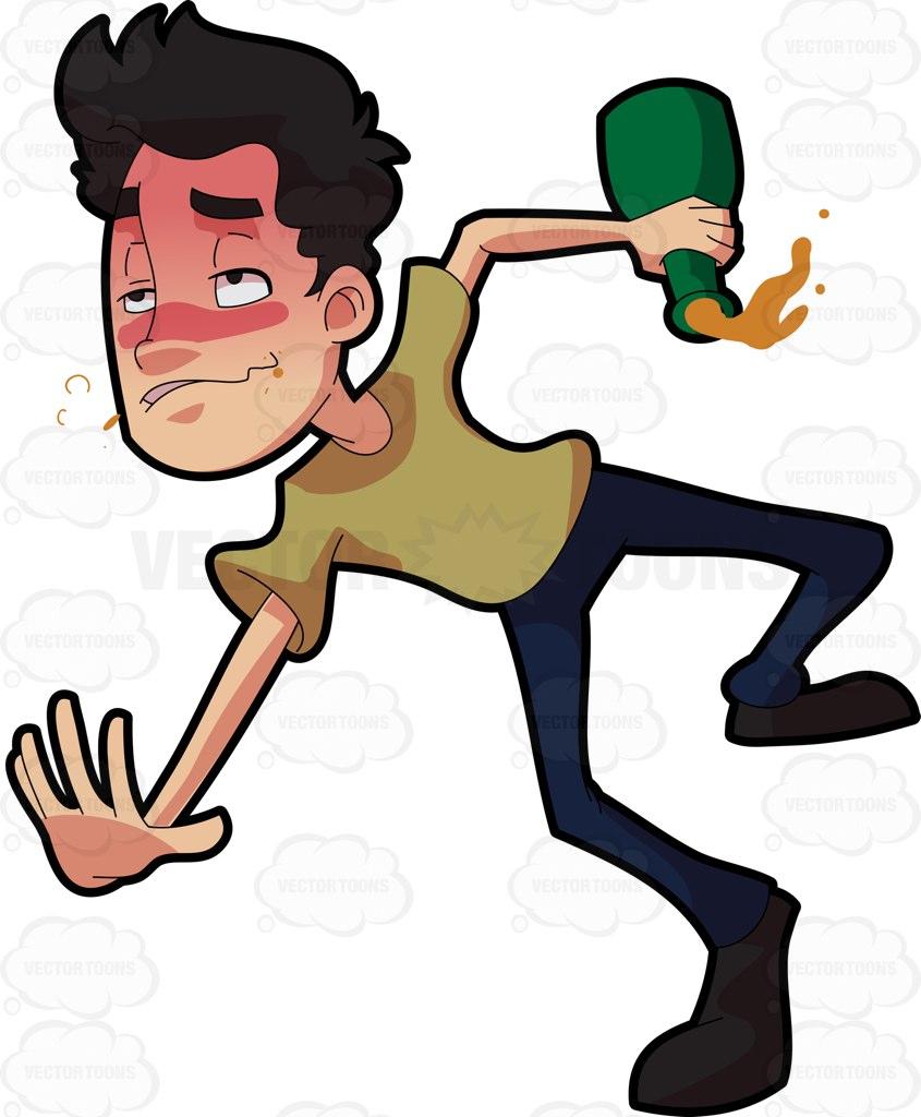 845x1024 A Drunken Man Tumbling Down On The Floor Cartoon Clipart Vector