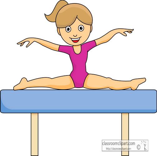 504x500 Top 93 Gymnastics Clip Art