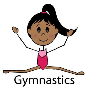 300x300 Free Girls Gymnastic Clip Art Gymnast Clipart Image Dark