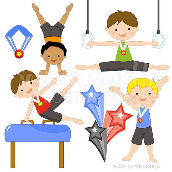 570x570 Boys Gymnastics Cute Digital Clipart