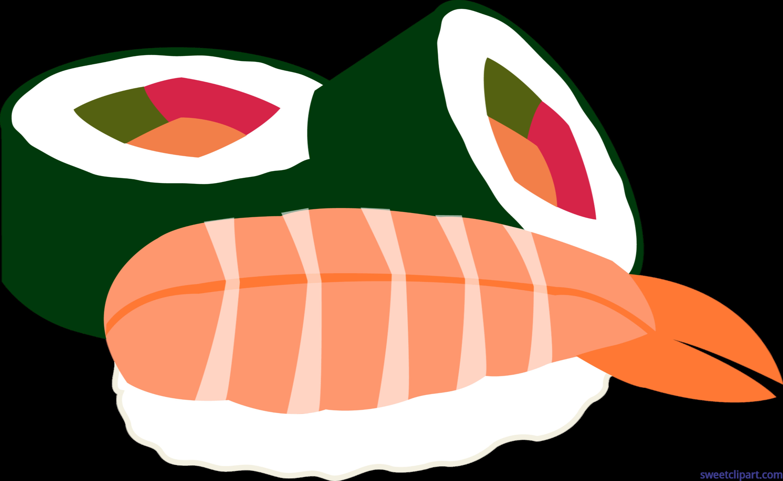 6002x3688 Sushi Rolls Futomaki Ebi Clip Art