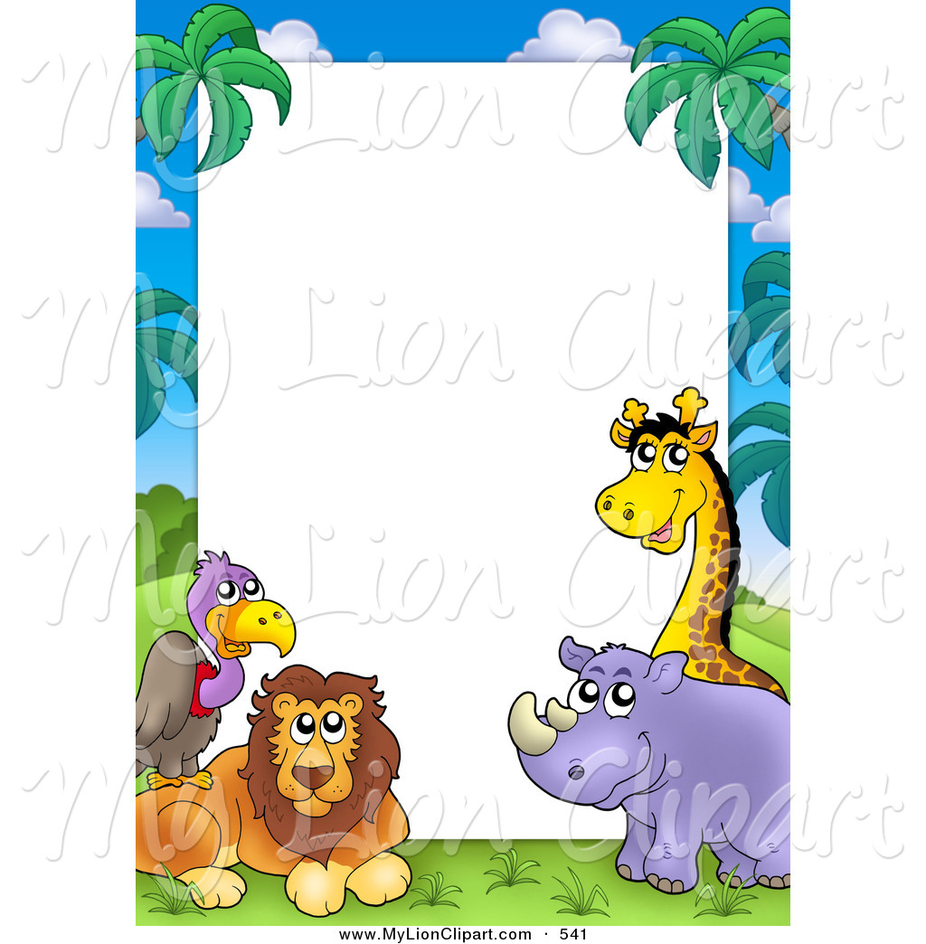 1024x1044 Animal Borders Clip Art