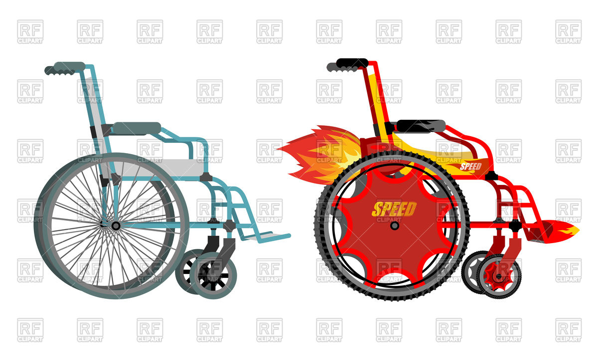 1200x724 Standard And Turbo Wheelchair Royalty Free Vector Clip Art Image