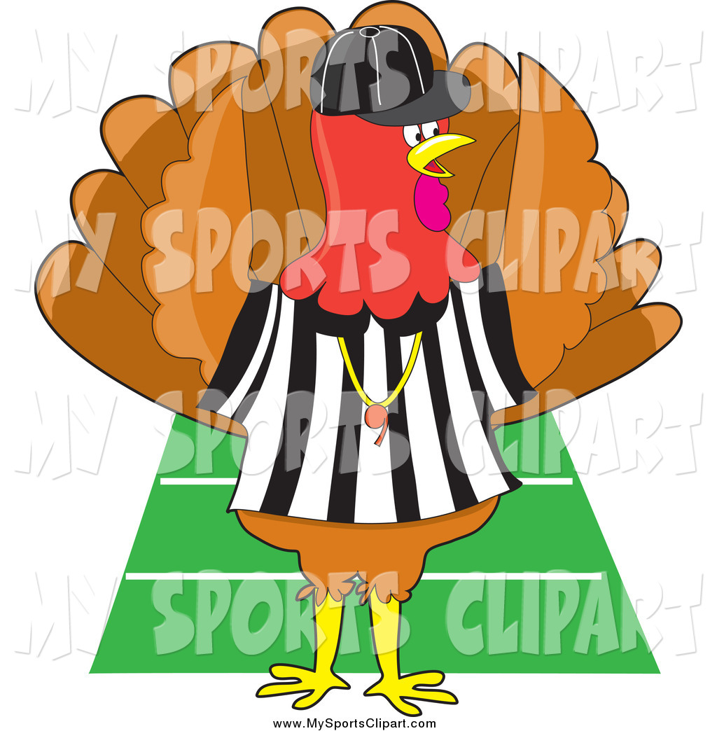 1024x1044 Sports Clip Art Of A Turkey Bird Football Referee By Maria Bell