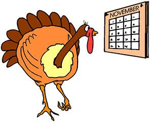 296x241 Turkey Bird Clipart Calendar