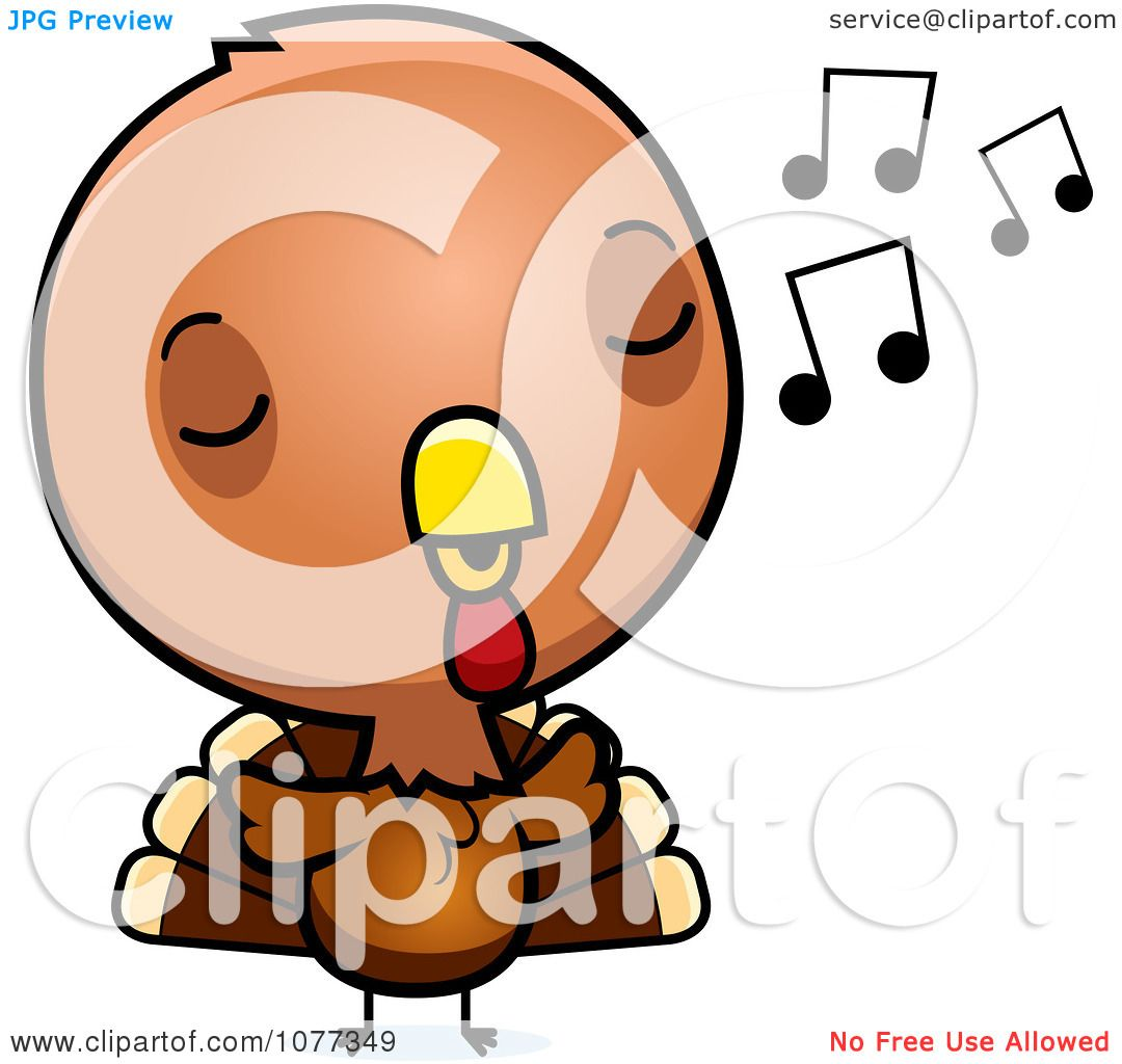 1080x1024 Clipart Cute Baby Turkey Bird Whistling