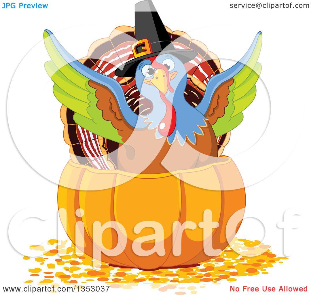 1080x1024 Clipart Of A Cute Thanksgiving Turkey Bird Pilgrim Flapping His