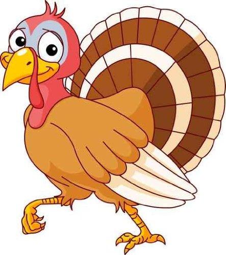 443x500 Cute Turkey Clipart