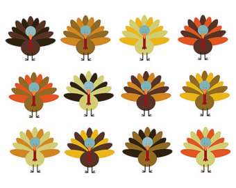 340x270 Turkey Clipart Etsy