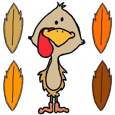 400x400 Free Clip Art Turkey Feathers