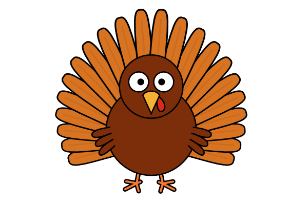 600x400 Turkey Clipart Simple