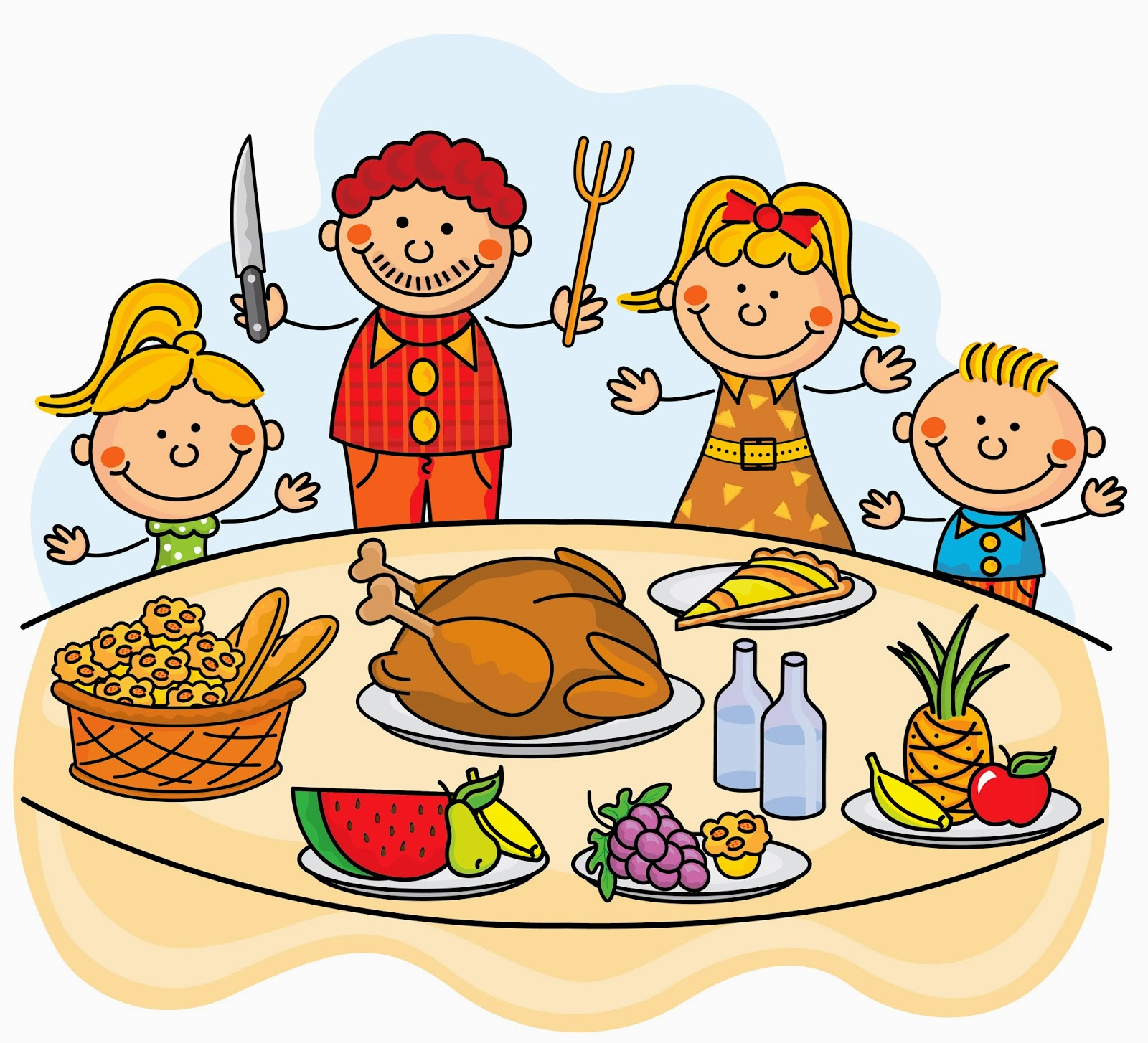 1600x1454 Collection Of Family At Thanksgiving Dinner Clipart High