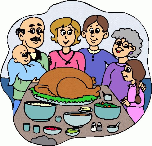 490x471 Collection Of Family Turkey Dinner Clipart High Quality